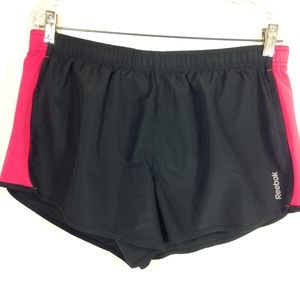Reebok Shorts Athletic Black Pink L